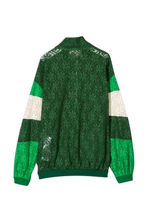 Green bomber jacket with flowers design Gucci kids GUCCI KIDS | 1236091882 | 595406ZADK13105
