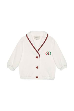 White denim jacket with frontal buttons Gucci Kids GUCCI KIDS | 39 | 596266XJBL19061