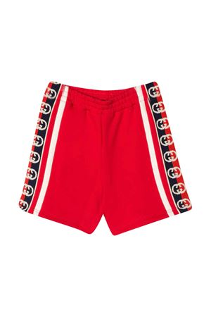 Red and white bermuda shorts Gucci kids GUCCI KIDS | 30 | 600053XJB4G6010