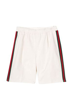 White bermuda shorts with side stripes Gucci kids GUCCI KIDS | 30 | 600271XWAIW9210