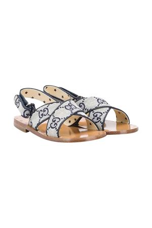 White and blue sandal Gucci kids GUCCI KIDS | 5032315 | 6038629SFK09360