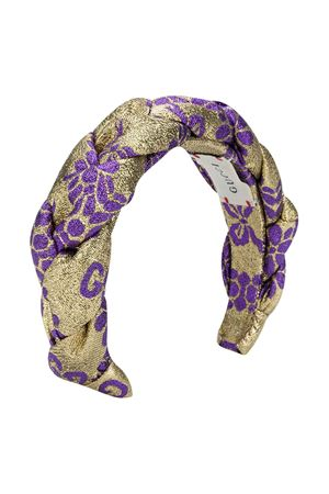 Golden laminated headband Gucci kids GUCCI KIDS | -611852221 | 6081844HJ427000