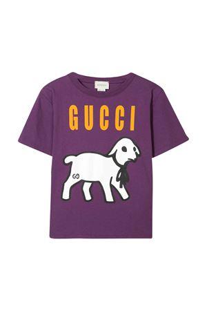 T-shirt viola Gucci kids GUCCI KIDS   8   609675XJB925153