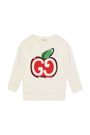 White sweatshirt with multicolor press Gucci kids GUCCI KIDS | -108764232 | 612189XJCBN9061