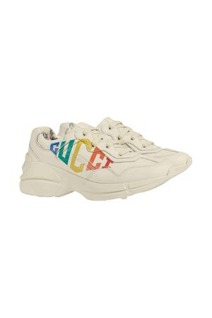 White Rhyton sneakers with logo Gucci kids GUCCI KIDS | 12 | 612996DRW009022
