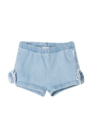 Shorts denim con fiori Il Gufo IL GUFO | 30 | P20PS072J003049C