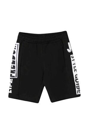 Shorts neri teen con stampa laterale Jeremy Scott JEREMY SCOTT | 30 | J3Q000LDA0060100T