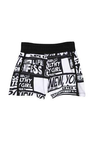 Shorts bianco e nero teen con stampa Jeremy Scott JEREMY SCOTT | 30 | J4Q000LDB4183232T