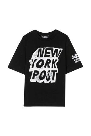 Maxi t-shirt nera teen con stampa Jeremy Scott JEREMY SCOTT | 5032307 | J5M010LBA0060100T