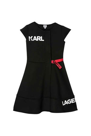 Black flared dress with logo Karl Lagerfeld kids Karl lagerfeld kids   11   Z1213809B