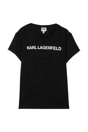 T-shirt nera con logo frontale karl Lagerfeld kids Karl lagerfeld kids | 8 | Z1522209B