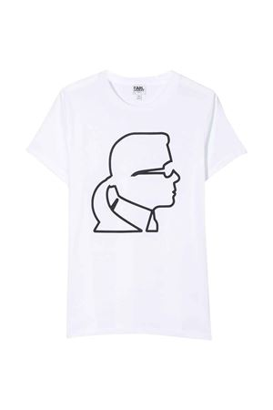 White t-shirt Karl Lagerfeld kids teen  Karl lagerfeld kids | 8 | Z2521810BT