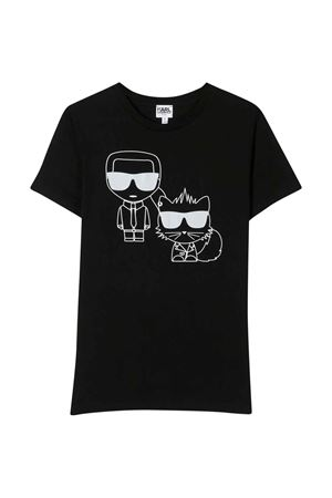 Black t-shirt with frontal press Karl Lagerfeld kids Karl lagerfeld kids   8   Z2522409B