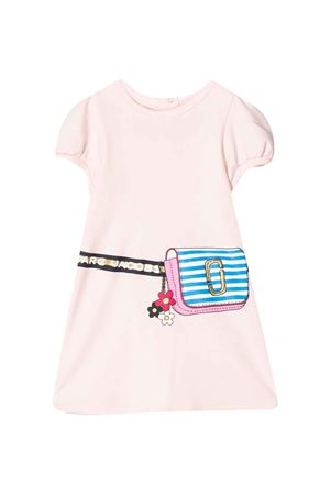 Pink dress with logo press Little Marc Jacobs kids Little marc jacobs kids | 11 | W0213845K