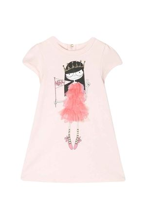 Pink dress with multicolor press Little Marc Jacobs kids Little marc jacobs kids | 11 | W0214445K