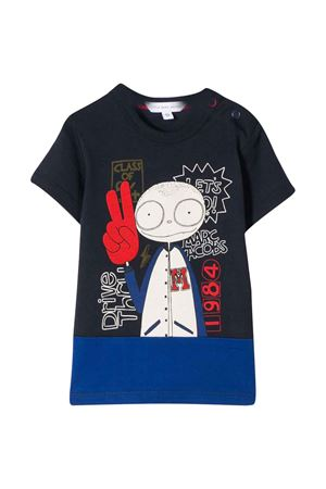 Blue t-shirt with multicolor press Little Marc Jacobs kids Little marc jacobs kids | 8 | W05276849