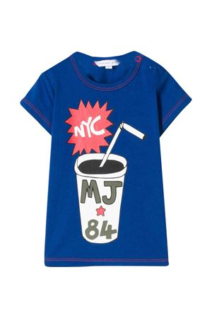 Blue t-shirt with multicolor press Little Marc Jacobs kids Little marc jacobs kids | 8 | W05277865