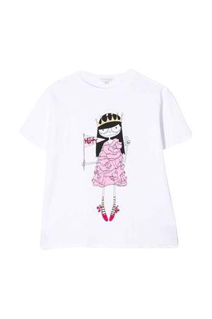 T-shirt bianca con stampa centrale little Marc Jacobs kids Little marc jacobs kids   8   W1548410B