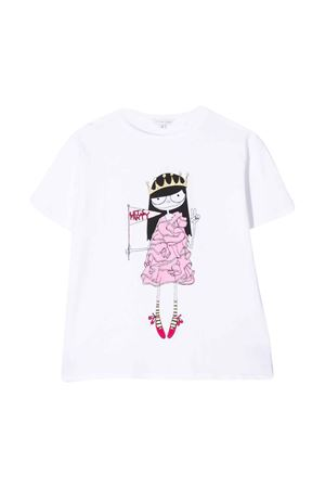 T-shirt bianca teen con stampa centrale Little Marc Jacobs kids Little marc jacobs kids   8   W1548410BT