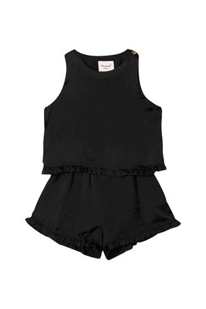 Mariuccia Milano kids black sleeveless jumpsuit  Mariuccia Milano Kids | 19 | MMBSS20TU02NEROT