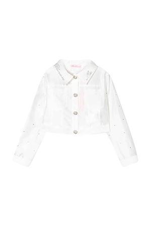 Giacca bianca con diamanti sintetici Miss Blumarine Miss Blumarine | 13 | MBL2300PANNA