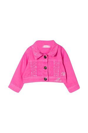 Pink denim jacket with synthetic diamonds Miss Blumarine Miss Blumarine | 13 | MBL2386ROSA