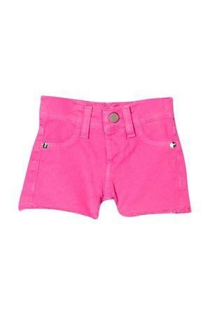 Pink denim shorts with embroidered logo Miss Blumarine Miss Blumarine | 30 | MBL2524ROSA