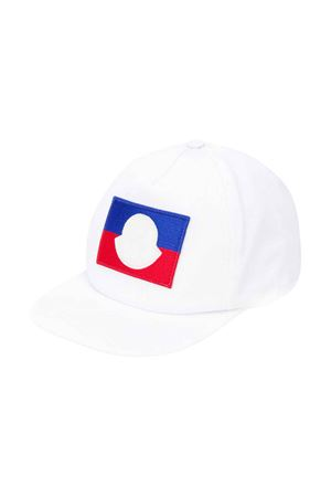 Moncler kids white hat  Moncler Kids | 75988881 | 3B7042004863001