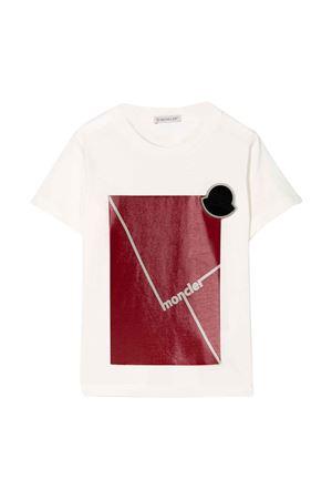 T-shirt bianca Moncler kids teen Moncler Kids | 8 | 8C7022083907034T