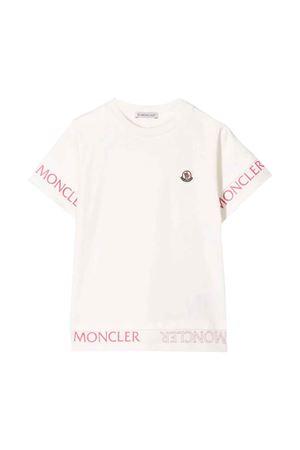 White t-shirt Moncler kids teen  Moncler Kids | 8 | 8C705108790A034T