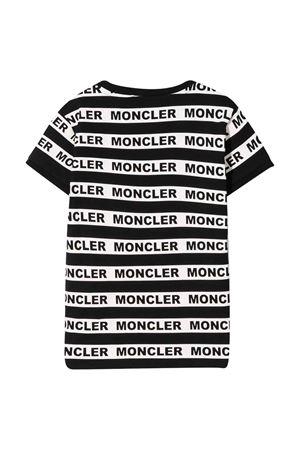 T-shirt nera e bianca con strisce Moncler kids Moncler Kids | 8 | 8C708108790A999