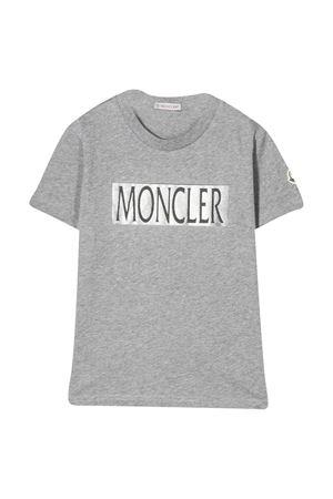 T-shirt grigia con logo frontale Moncler kids Moncler Kids   8   8C7132083907980