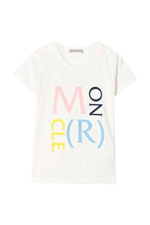 White t-shirt Moncler kids teen  Moncler Kids | 8 | 8C724108790A034T