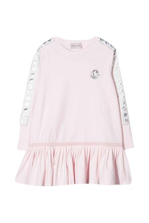 Pink dress with logo application Moncler kids Moncler Kids | 11 | 8I70210V8114503