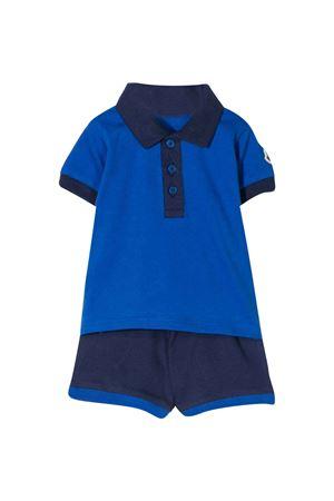 Completo con polo e shorts blu e nero Moncler kids Moncler Kids | 42 | 8M702208496F711