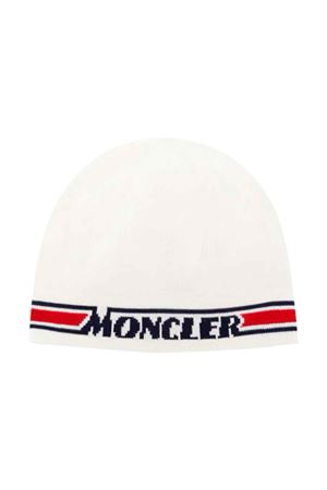 White cap with logo band Moncler kids Moncler Kids | 5032340 | 9Z70120V9082034