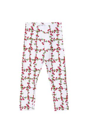 White leggins with multicolor press Monnalisa kids Monnalisa kids | 411469946 | 11541356710099