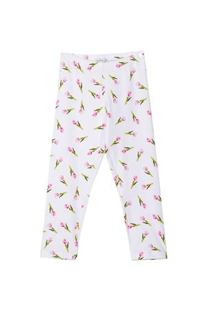 White leggings with floreal press Monnalisa kids Monnalisa kids | 411469946 | 11541956779995