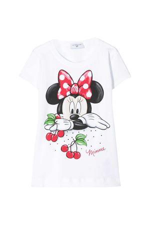 T-shirt bianca con stampa Monnalisa kids Monnalisa kids | 8 | 115617SO52010099