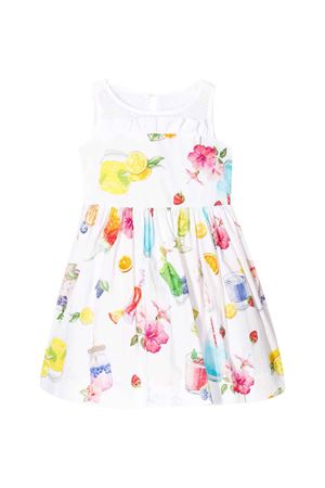 White sleeveless floreal dress Monnalisa kids Monnalisa kids | 11 | 11593056909984
