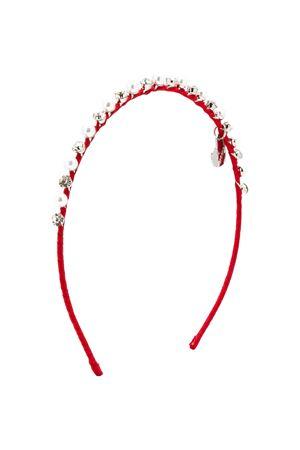 Fermaglio per capelli rosso con applicazioni Monnalisa kids Monnalisa kids | -611852221 | 17500750650044