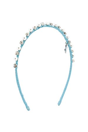 Light blue hair clip with applications Monnalisa kids Monnalisa kids | 2047319446 | 17500750650052