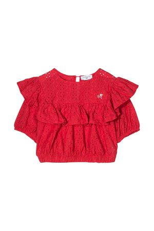 Top rosso con rouches Monnalisa kids Monnalisa kids | 40 | 17530159080044
