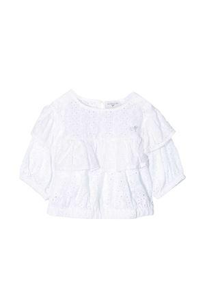 Top bianco con rouches Monnalisa kids Monnalisa kids | 40 | 17530159080099