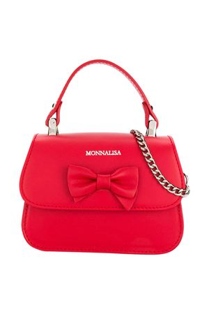 Red bag with applied bow Monnalisa kids Monnalisa kids | 31 | 175BAS50770044