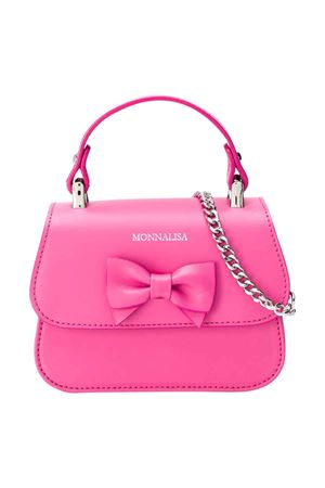Fucsia bag with applied bow Monnalisa kids Monnalisa kids | 31 | 175BAS50770095