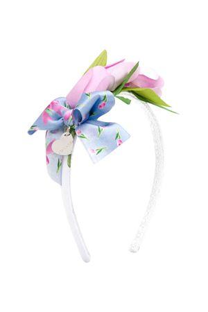 Cerchietto con fiocco a fiori Monnalisa Kids Monnalisa kids   -611852221   19502051100099