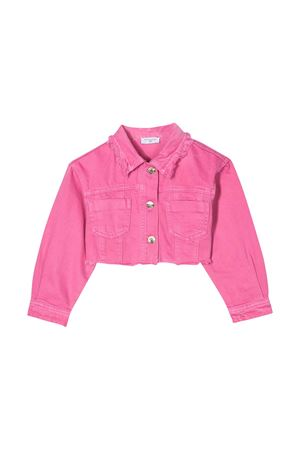 Pink denim jacket with back press Monnalisa kids Monnalisa kids | -276790253 | 195104A750110095