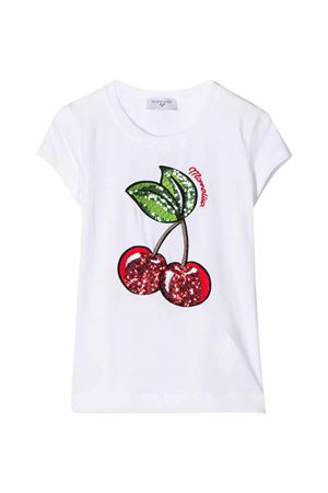 White t-shirt with application Monnalisa kids Monnalisa kids | 8 | 195632RD50000099