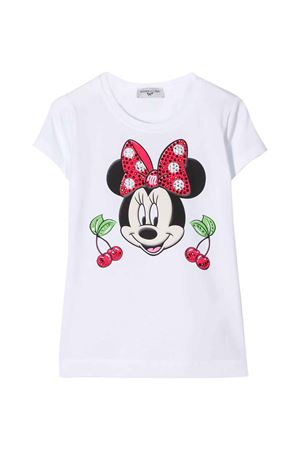 White t-shirt with frontal press Monnalisa kids Monnalisa kids | 8 | 195643PL50540099